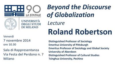 Beyond the Discourse of Globalization - Lecture Roland Robertson